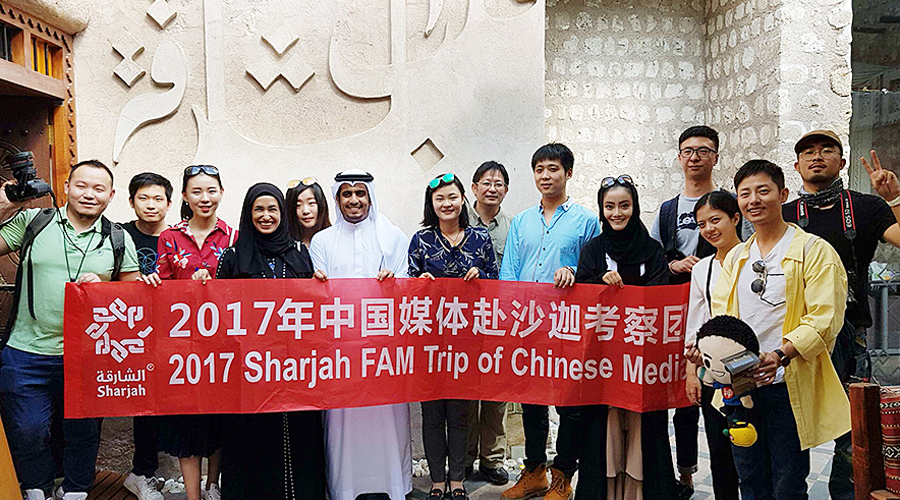 Chinese KOL and media companies were invited to take a fam trip to Sharjah